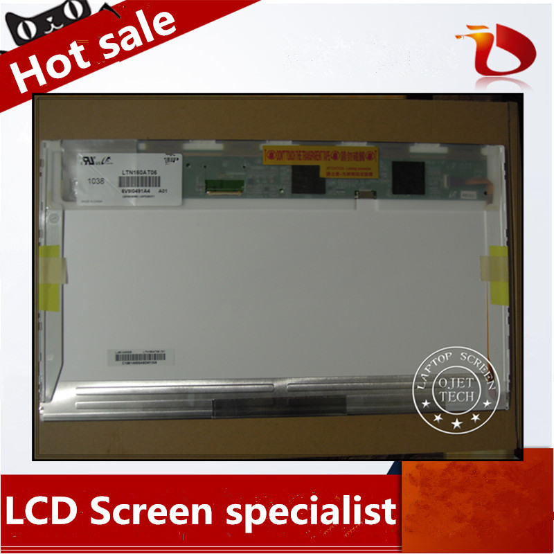 Gread A+ HSD160PHW1 LTN160AT06 16 inch led For ASUS N61 N61vg N61JV HP DV6 CQ61 K61IC Laptop LCD LED Screen Display matrix gread a b140rtn01 v 0 14 0 1600x900 led screen for au optronics b140rtn01 0 lcd laptop for lenovo