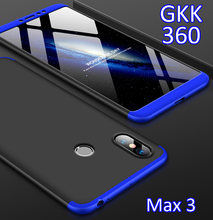 GKK Case For Xiaomi Mi Max3 Max 3 360 Full Protection Cover Ring Holder Finger Grip(China)