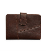 XIYUAN BRAND Genuine Leather brown Wallet Men Cowhide Wallets Man Coin Wallet Small Clutches Men's Purse Coin Pouch Short male