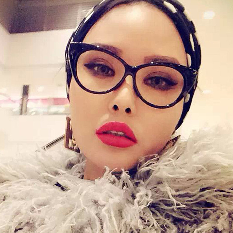 Fashion Cat Eye Glasses For Women Parenting Mother And Daughter Eyeglasses Transparent Clear Lens Kids Gift