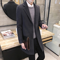 Winter wool coat men long sections thick woolen coats Mens Casual Fashion Jacket / Men overcoat