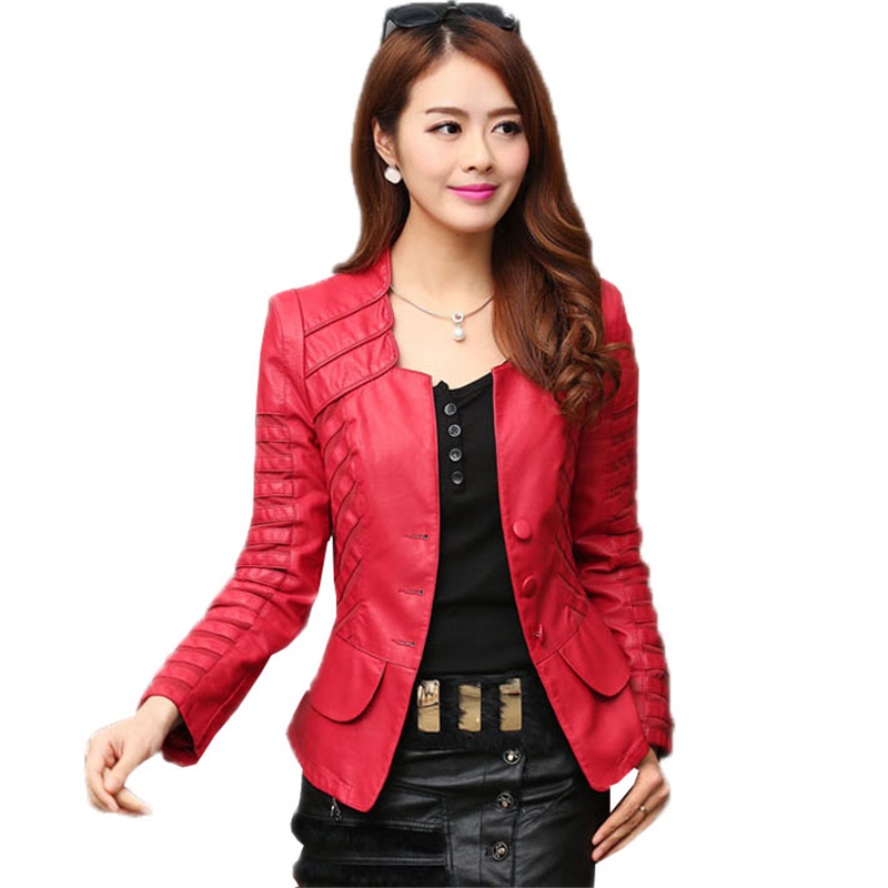 Autumn Winter Women Plus Size 4XL PU Faux   Leather   Coat Female Casual Jacket Clothing Ladies Single Breasted Moto Outerwear O437