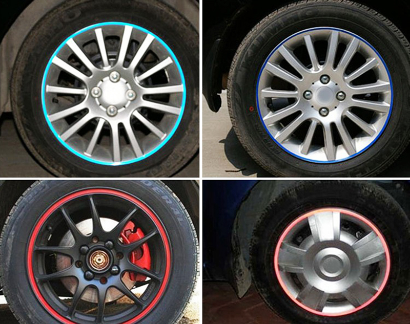 Multi colors Car Styling Wheel Sticker Reflective Rim