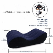 Toughage Sex Furniture Inflatable Sofa Sex Pillow Portable Chair With Pump Handcuffs Leg Cuffs Lounger Adult Sex Toy For Couples top quality toughage brand pf3203 inflatable adult sex furniture chair sex pillow wedge inflatable sex sofa chair ball sofa bed