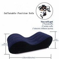 Toughage Inflatable Sex Furniture Sex Pillow Chair Portable Sofa With Pump Handcuffs Leg Cuffs Lounger Sex Toy For Woman Couples