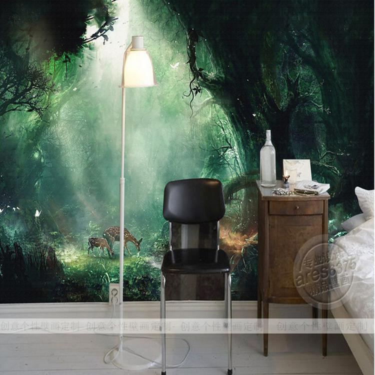 Buy free shipping custom large mural for Custom mural wall covering
