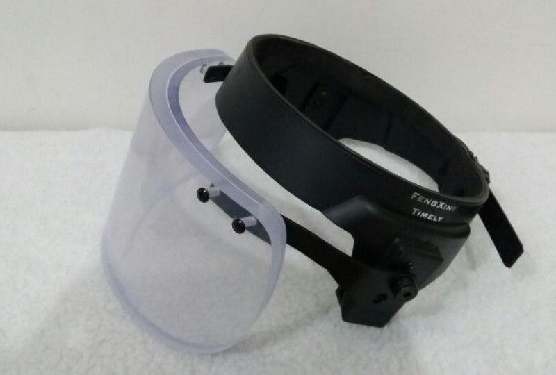 Бронешлем с забралом для M88 шлем с сплав Сталь прикрепляющиеся круглые баллистическая защитная маска для шлем MICH Личная самооборона оружия