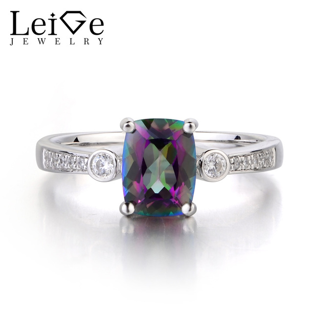 carats wide white gold rings emerald ring amazon topaz halo diamonds natural mystic octagon dp com wedding diamond