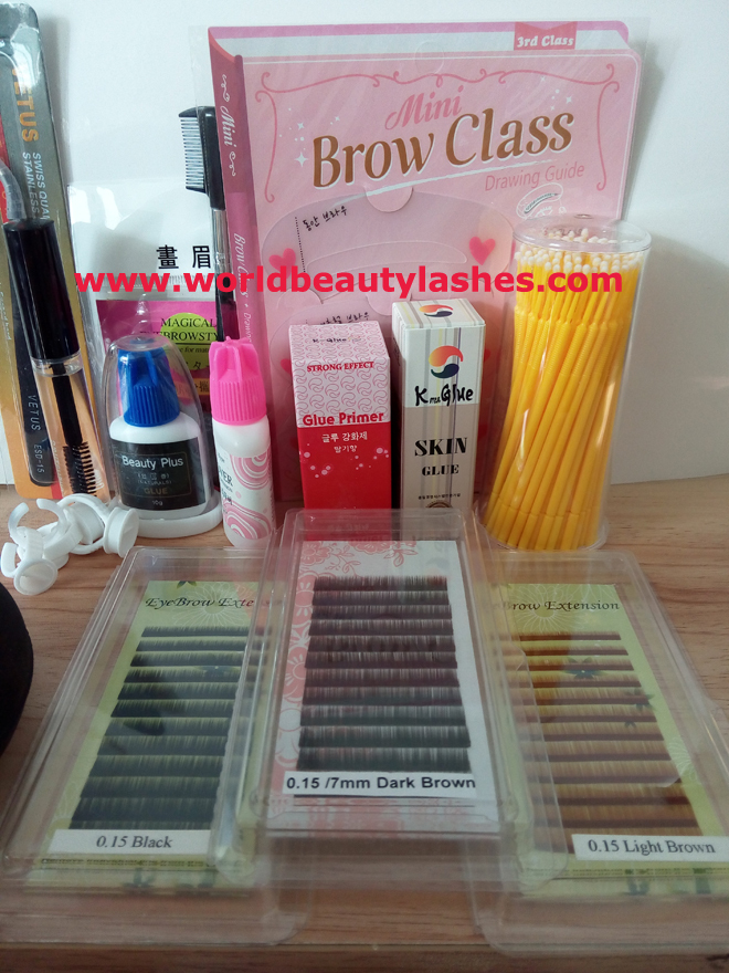 China golden supplier for eyebrow extension kits wholesale price eyebrow extension tools цена