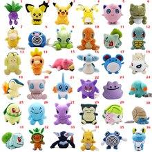 36 estilos de muñeca de Anime Pikachu Poliwag Bulbasaur Charmander Lapras Snorlax relleno peluches regalo de Navidad para niños