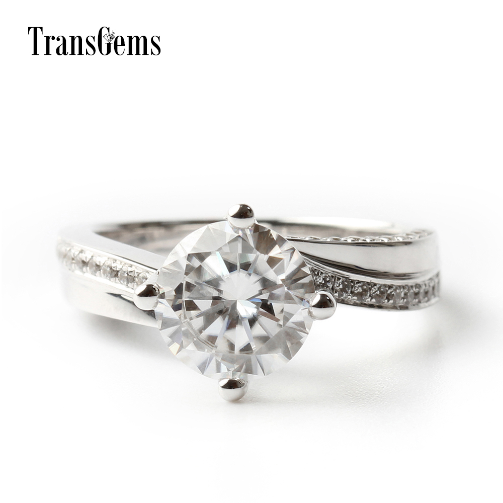 Free Shipping Custom Jewelry 2 Ct F Color Moissanite Ring Bands Set With Cubic  Zirconia Accents