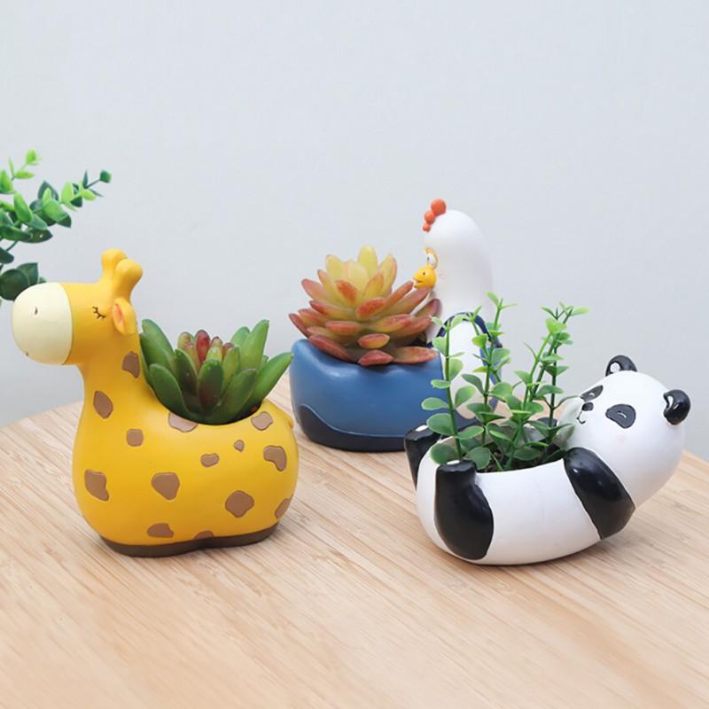 Online Shop Resin Flowerpot Kawaii Corgi Garden Pots Planters ...