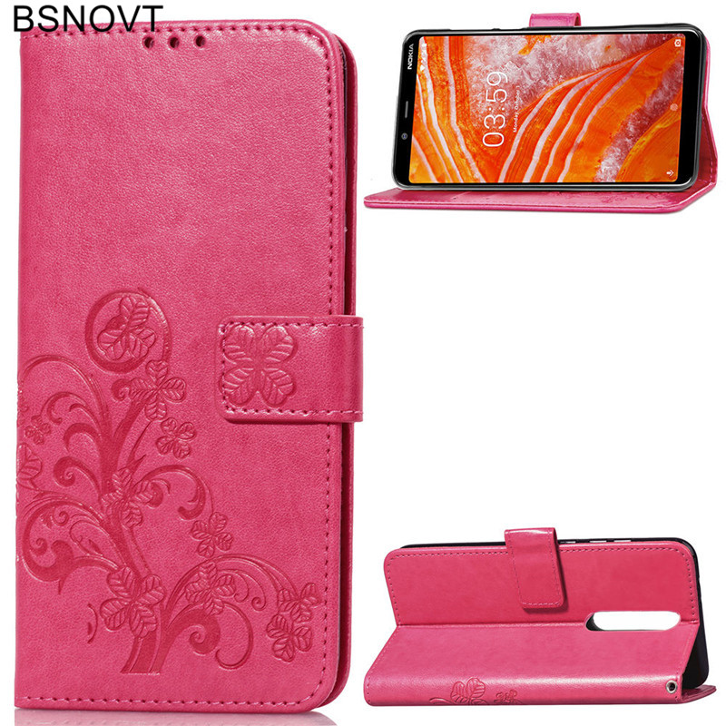 For Nokia 3 1 Plus Case Soft Silicone PU Leather Dirt resistant Phone Bag Case For Nokia 3 1 Plus Cover For Nokia X3 2018 Case in Flip Cases from Cellphones Telecommunications
