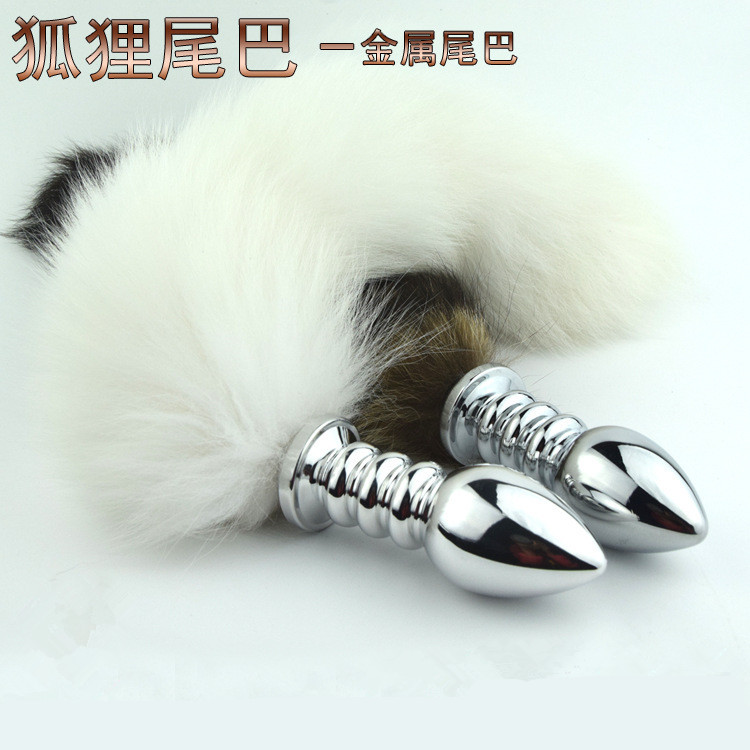 Arctic fox tail anal plug sexy anal plug tail gay adult sex toys for woman stainless steel butt plug anal tail fox tail buttplug цены онлайн