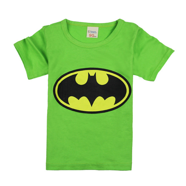 New 2018 cartoon hero t-shirts costume kids clothing boy t shirts batman children's wear