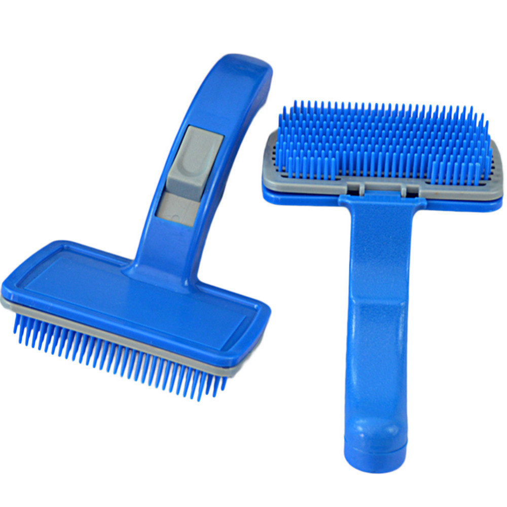 New Pet Dog Cat Grooming Combs Self Cleaning Slicker Brush
