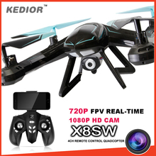 X8SW RC Drone FPV Quadcopter Helicopter 2.4G 4CH 6-Axis RC Quadcopter Drones Can Add Real-time 720p Wifi FPV Or 1080p HD Camera
