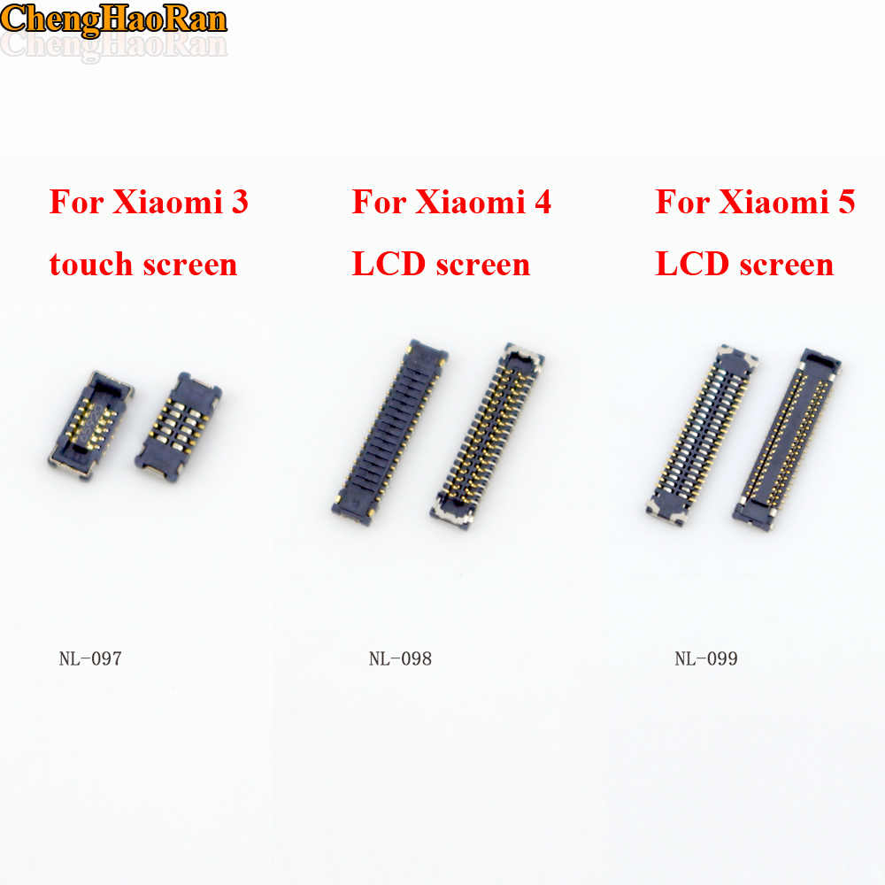 ChengHaoRan 1pcs Touch Screen Digitizer LCD Display FPC Connector Plug MotherBoard Pin For XIAOMI 3 4 5 MI3 MI4 MI5 Note