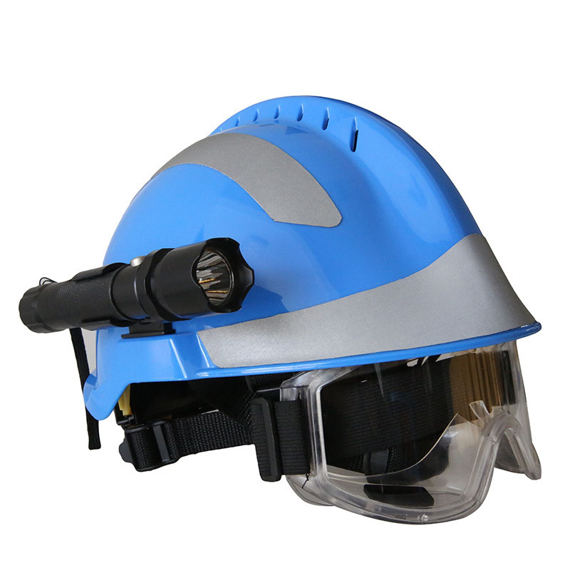 Safety Rescue Helmet With Headlamp and Protective Goggles Fire Fighter ABS Safety Helmets Workplace Fire Protection Hard Hat