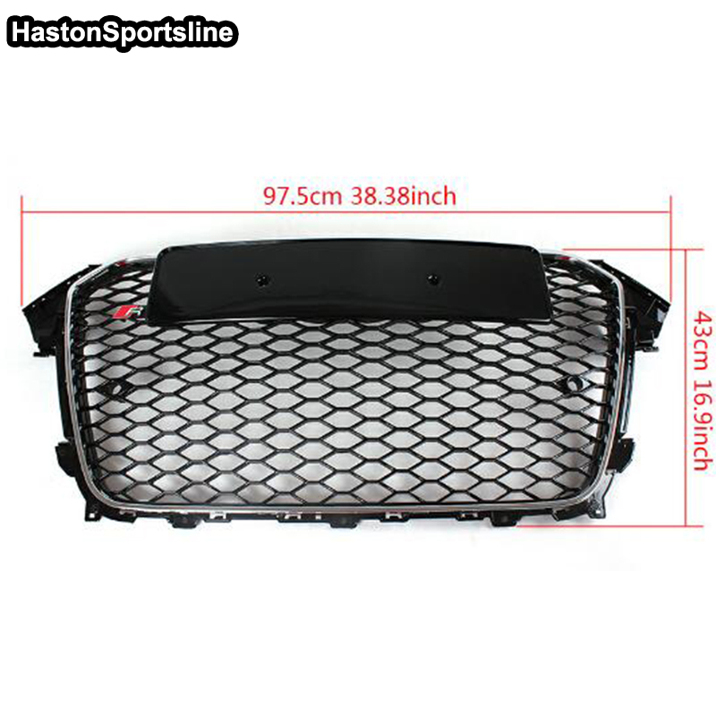 A4 ABS Car Styling Exterior Parts Front Bumper Mesh Grill