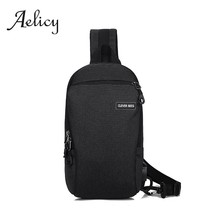 Aelicy Chest Pack Men Korean Casual Usb Laptop Messenger Crossbody Bag Male Foldable Travel Diagonal Package With Keychain(China)