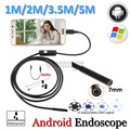 7mm Lens Android USB Endoscope Camera Flexible Snake USB Pipe Inspection Android USB Borescope Android Camera 5M 3.5M 2M 1.5M 1M