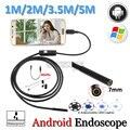 7mm Lente Android Câmera Endoscópio USB Tubo Flexível Cobra USB Android inspeção USB Endoscópio Android Câmera 5 M 3.5 M 2 M 1.5 M 1 M