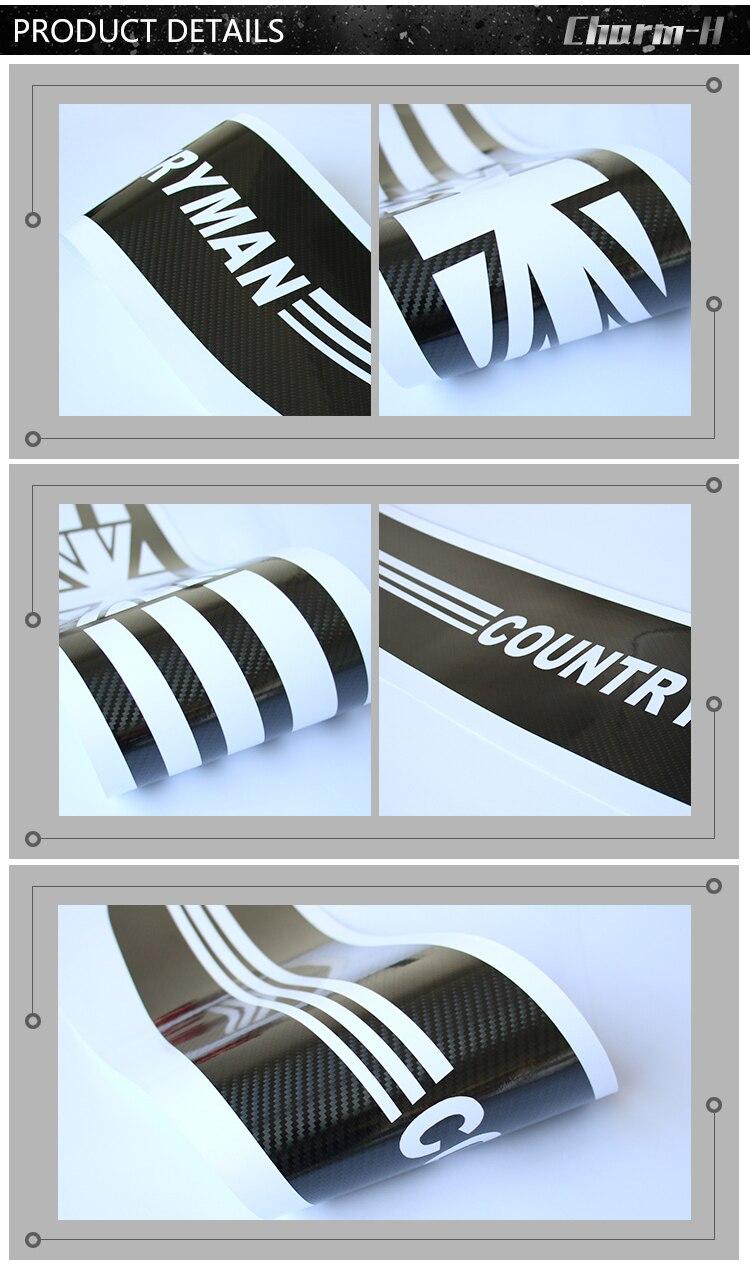 Автомобильный Стайлинг, задний бампер, защита багажника, защита края, Виниловая наклейка, наклейка для MINI Cooper countryman R60 2010-, аксессуары