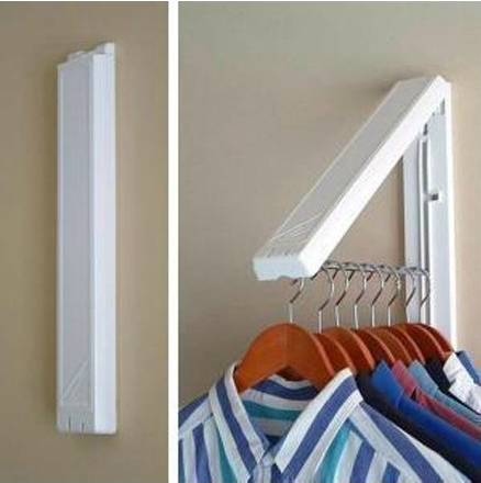 Invisible Home Clothing Hanger Fold Storage Hanger Rack Door Hanger Wall  Hanger