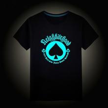 Top Brand Kids Children s T shirt Boys Girls Stars Cartoon Noctilucence Luminous T shirt Boys