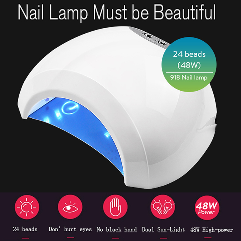48W UV Lamp Gel LED Nail Lamp High Power For Nails All Gel Polish Nail Dryer Sensor Sun Led Light Nail Art Manicure Tools