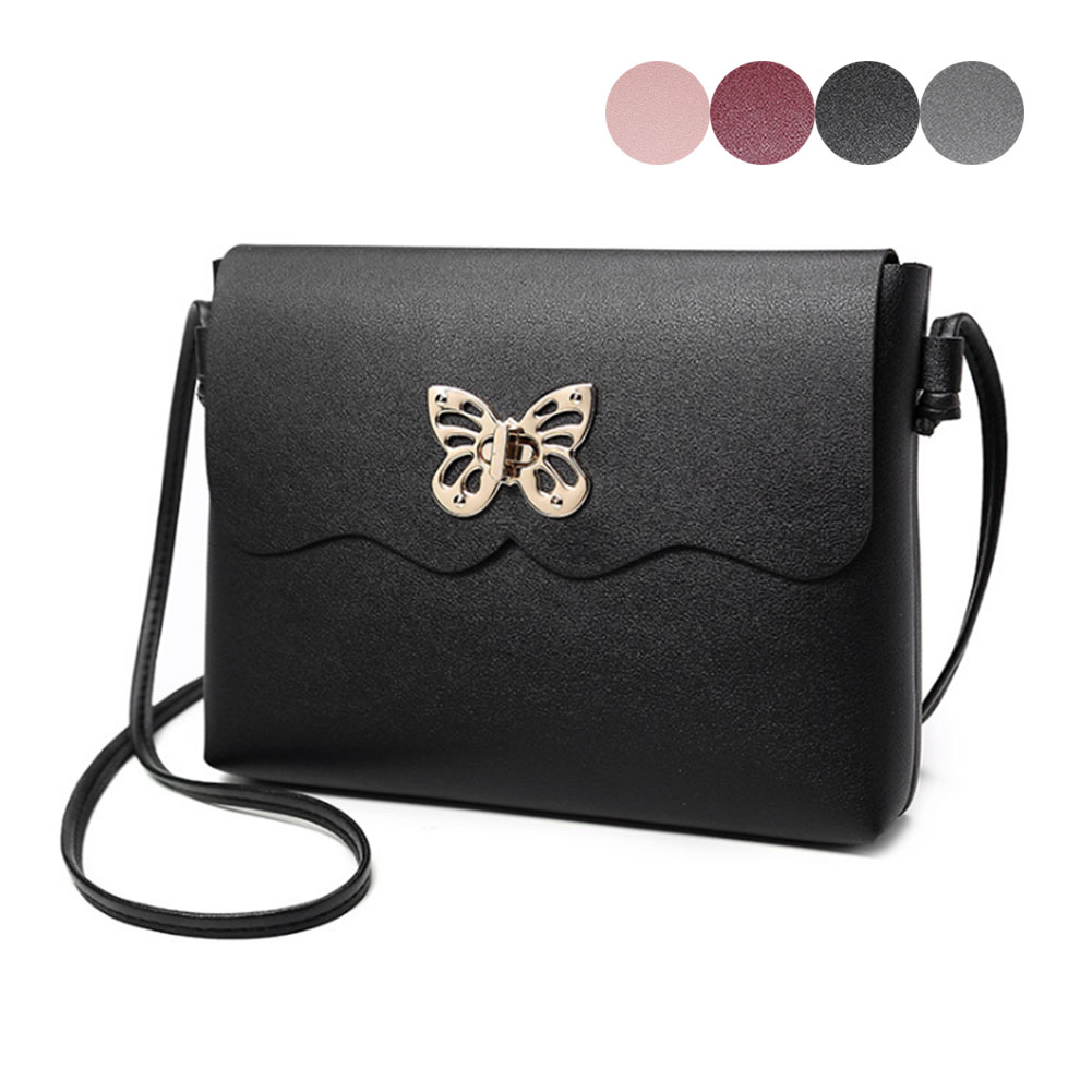 New Arrival Women Female PU Leather Bowknot Buckle Small Shoulder Bag Phone Purse Messenger Bag Shopping Handbag Popular round buckle lunch box bucket bag female 2018 new fashion messenger female shoulder bag