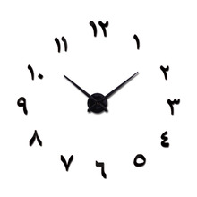 New fashion Clock Watch Wall Clocks Horloge 3d Diy Acrylic Mirror Stickers Home Decoration Living Room Quartz Needle