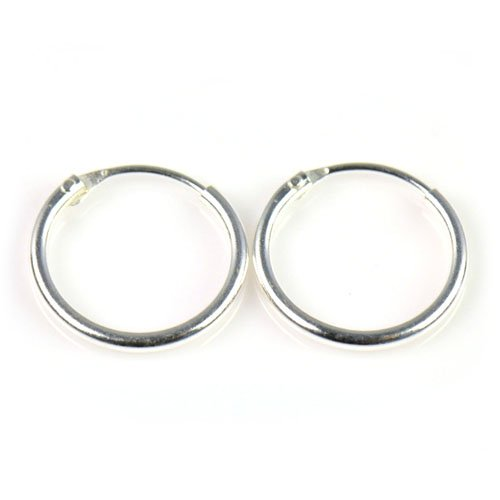 Aoloshow 925 Sterling Silver Small Endless Hoop Earrings For Cartilage Helix Nose Septum And Lips Diameter 8 9 5 13 14mm P698 In From Jewelry