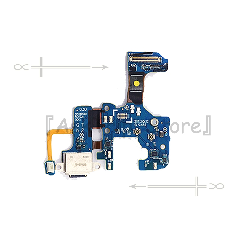 For Samsung Galaxy <font><b>Note</b></font> <font><b>8</b></font> N9500 N950U N950F N950N Type-C Charger <font><b>Board</b></font> USB Date Charging Port Dock Flex Cable Mobile Phone Part image