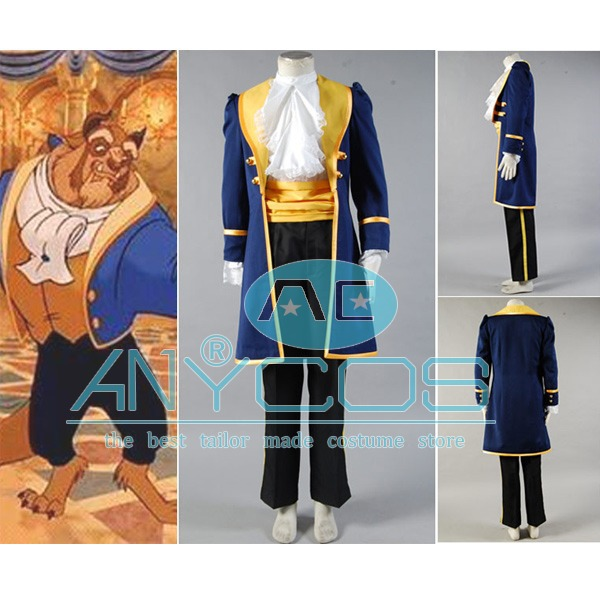 Beauty and the Beast Cosplay COstume Prince Adam Adult Uniform Coat Pants Shirt For Men Halloween Cosplay Costume Custom Made