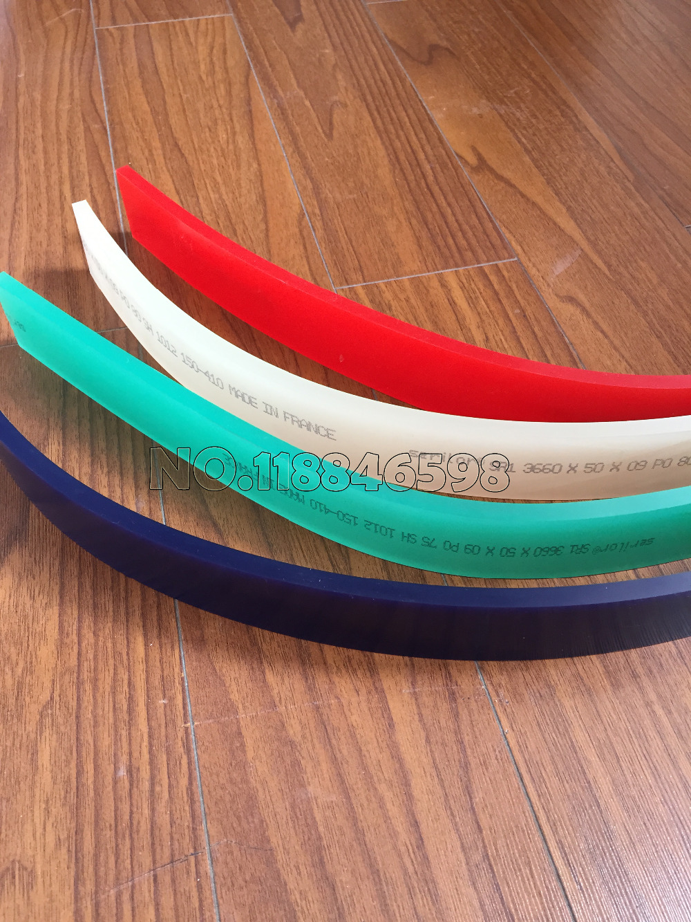 25MM(Width)x5MM(Thickness)x600MM(Leng) Screen Printing Squeegee Scraper Strips Silk Squeegee Blade France 65/85/75 Durometers