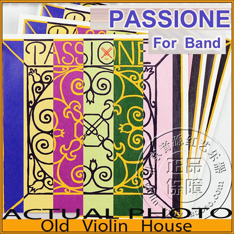 Original Pirastro Passione For Band Violin Strings 4/4 E Medium with Ball-End  (219021), Full Set ,made in Germany,Free shipping free shipping evah pirazzi violin strings full set ball end made in germany for 4 4