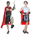 2016 New customized free size fashion Couples Roman Centurion,Brave Warrior For party Halloween Couples costumes #160908_a153