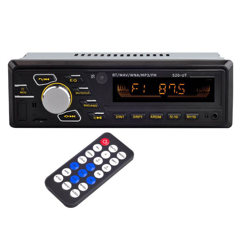 AZGIANT 12V 24V ISO Bluetooth <font><b>Car</b></font> Stereo FM Radio MP3 <font><b>Audio</b></font> Player SD Auto Electronics Subwoofer <font><b>1</b></font> <font><b>DIN</b></font> Autoradio For truck bus image