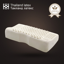 Thailand Natural Latex Bed Cervical Orthopedic Pillow 60x32x10x8cm Butterfly Model Particles Shiatsu Message Memory Foam Pillows