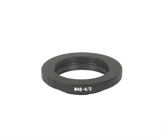 M42-4/3 adaptador de lentes de M42 lente de Olympus 4/3 de la cámara cuerpo E5 E620 E600 E410 E420 E500 E510 E520 E450 negro