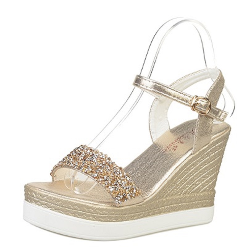 shinning glitter silver gold platform high heels wedges women sandals 2017 summer ladies open toe casual shoes pumps phyanic 2017 gladiator sandals gold silver shoes woman summer platform wedges glitters creepers casual women shoes phy3323