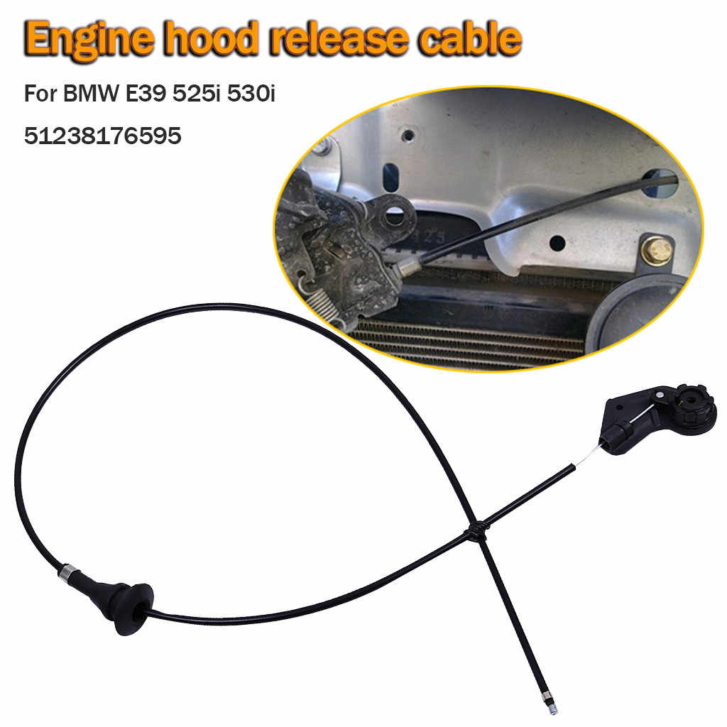 1 x Hood Release Cable E39 525i 530i Engine Bowden Cable Kit Hood Release Wire 51238176595 Car Acessories #YL5