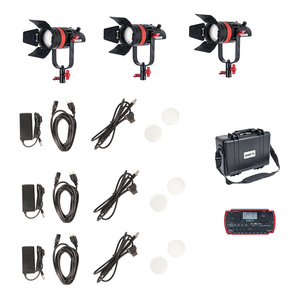 Image 5 - 3 Pcs CAME TV Q 55S Boltzen 55w High Output Fresnel Focusable LED Bi Color Kit Led video light