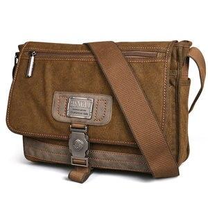 Image 3 - Retro Canvas bag men shoulder bags leisure wear resistant cross messenger bag Unisex casual crossbody Bags Leisure Package