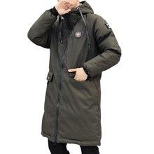 Lungo parka uomini giacca invernale 2018 Nuovo caldo Antivento casual Tuta Sportiva di Cotone Imbottito Cappotto Grandi Tasche di Alta Qualità Parka Uomini