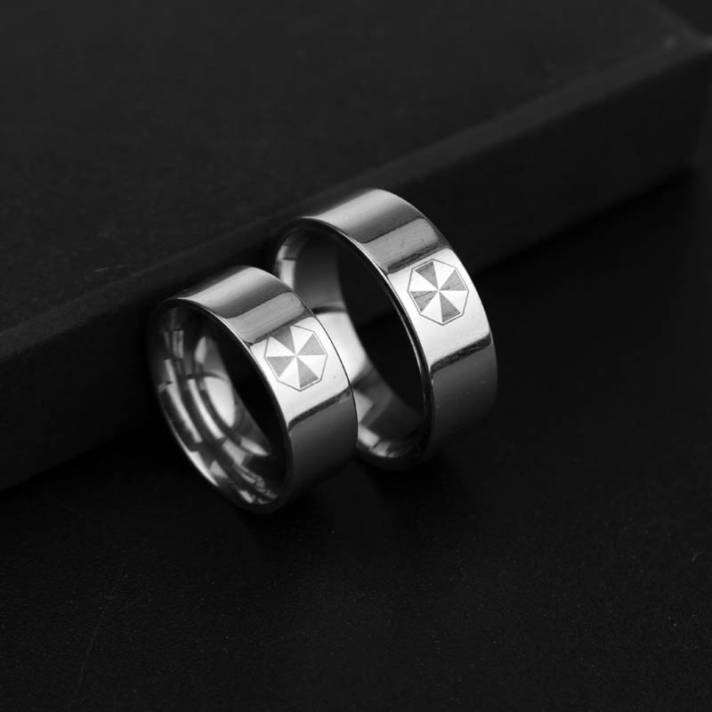 rongji jewelry movie Resident Evil Stainless Steel umbrella Ring for Anelli Uomo and Bague Femme Jewelry Factory Outlet