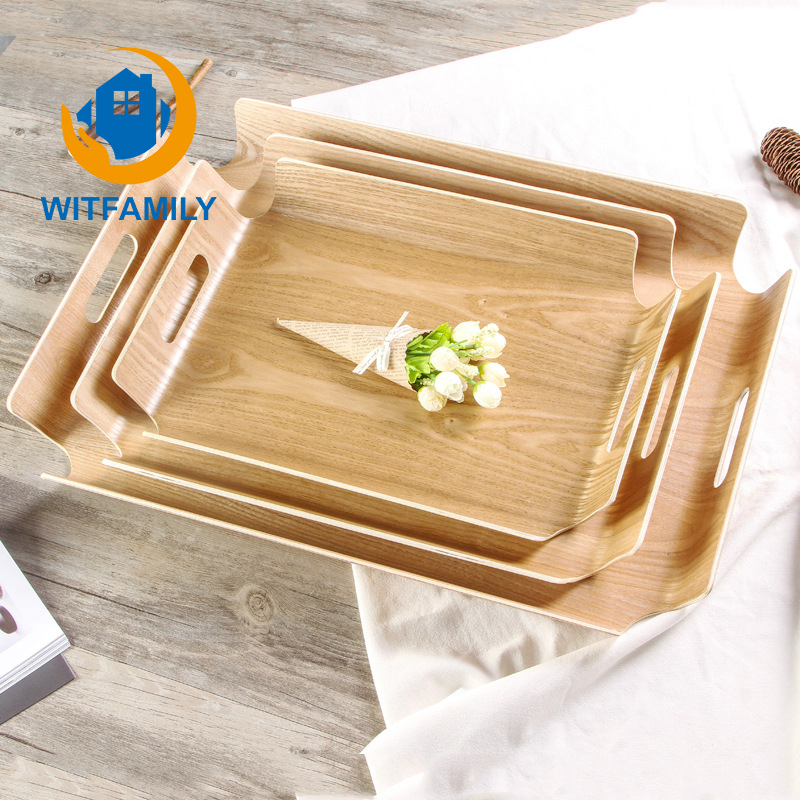 New Arrival Home Garden Wood Tray Handcrafted Rectangular Wooden Tray Bakery Bread Tray Baking Insert Tools