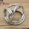 2016 Hot Sale Male Chastity Belt 32mm.38mm.38mm. 45mm Stainless Steel Cock Rings, Metal Penis Ring with Three Sex Toys for Men